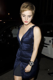 Emma Watson was spotted at the Box Nightclub wearing a gorgeous Chanel cuff bracelet.