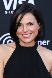 Lana Parrilla wore her hair in a classic bob at the premiere of 'Lone Ranger.'