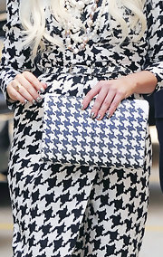 Lady Gaga rocked houndstooth all the way down to her nails when she visited 'The View.'