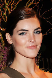 Hilary Rhoda put the spotlight on her eyes with a heavy application of metallic shadow.