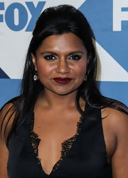 Mindy Kaling sported a retro half updo at the 2013 TCA Press Tour Fox All-Star Party.